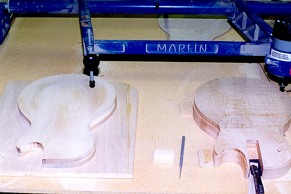 Building les pauls here are the actual body blanks ready to have the top contours machine carved pronofoot35fo Image collections